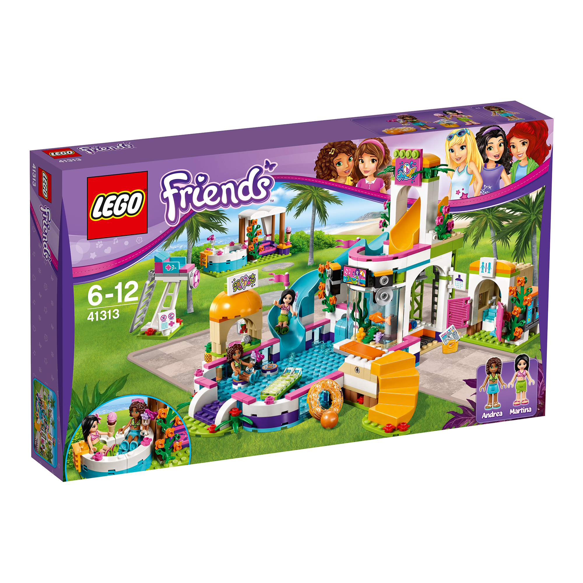 Lego Friends Piscina Topjucarii Lego Friends Piscina De Vara Din Heartlake