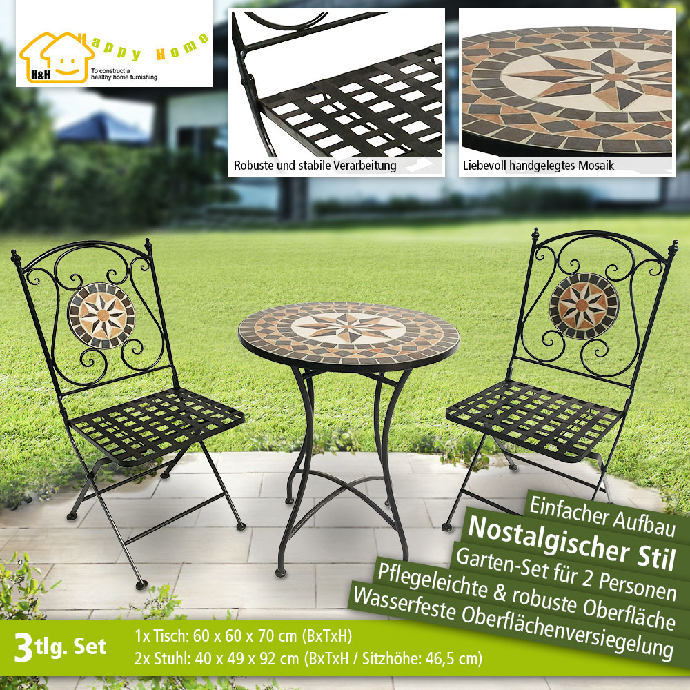 Mosaik Bad Set Happy Home Mosaik Garten Set Hge02 Mix