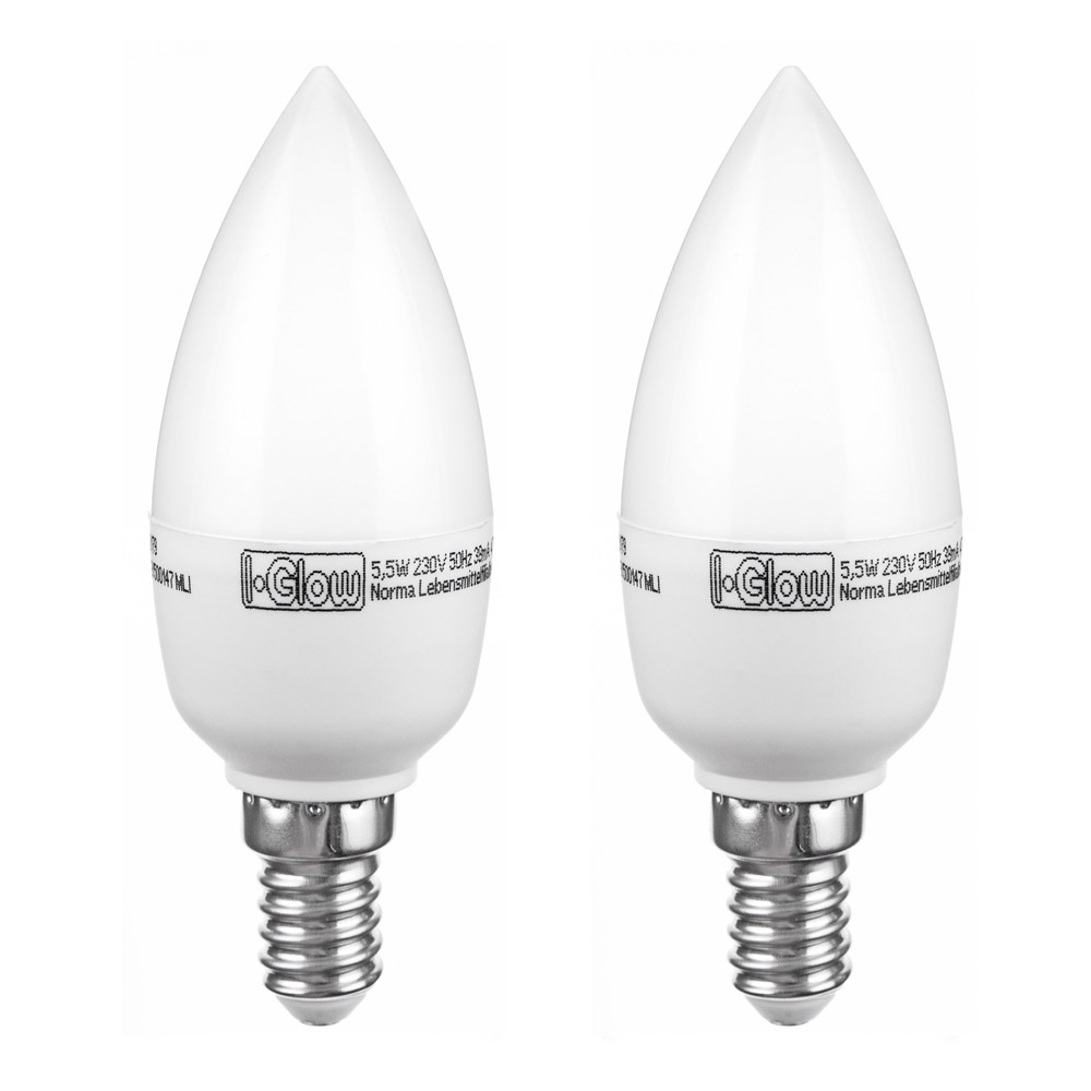 Led Dimmbar E14 I Glow Led Kerze Dimmbar E14 5 5w 2er Set