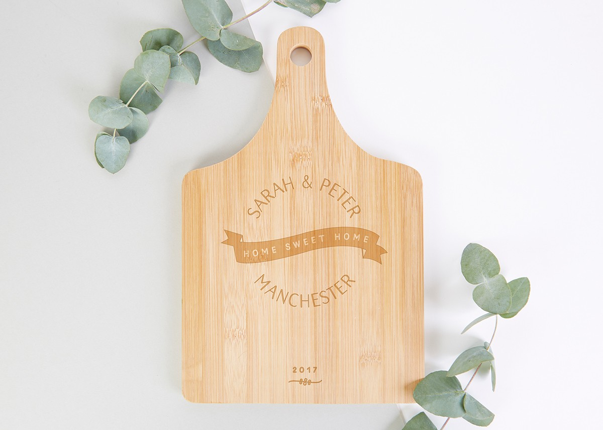 Personalised New Home Gifts Personalised New Home Gift Wooden Serving Board