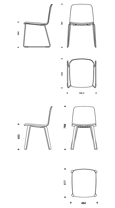 Vitra Stuhl Dsw Download 2d 3d Cad Files