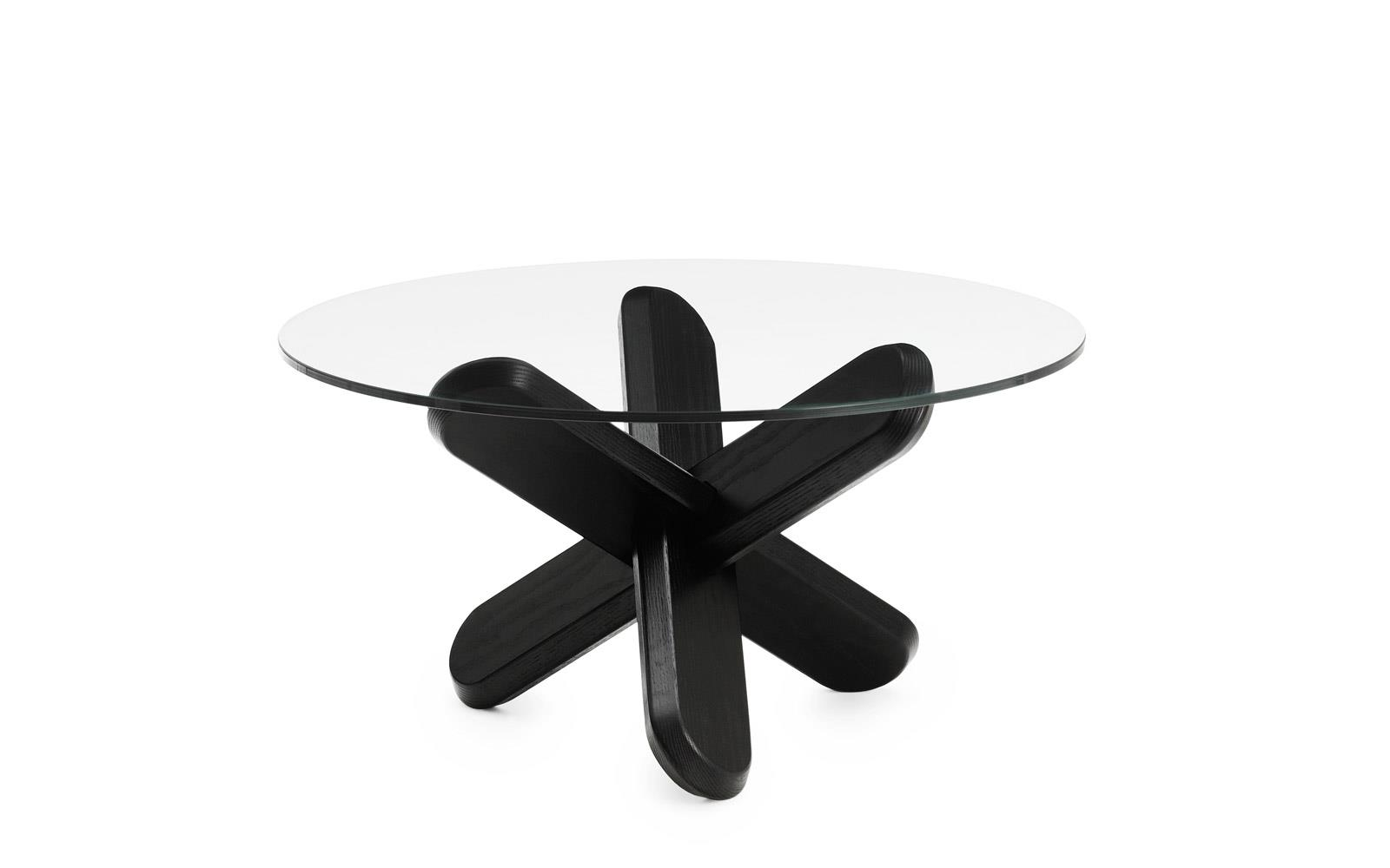 Normann Copenhagen Couchtisch Ding Table Glass Black