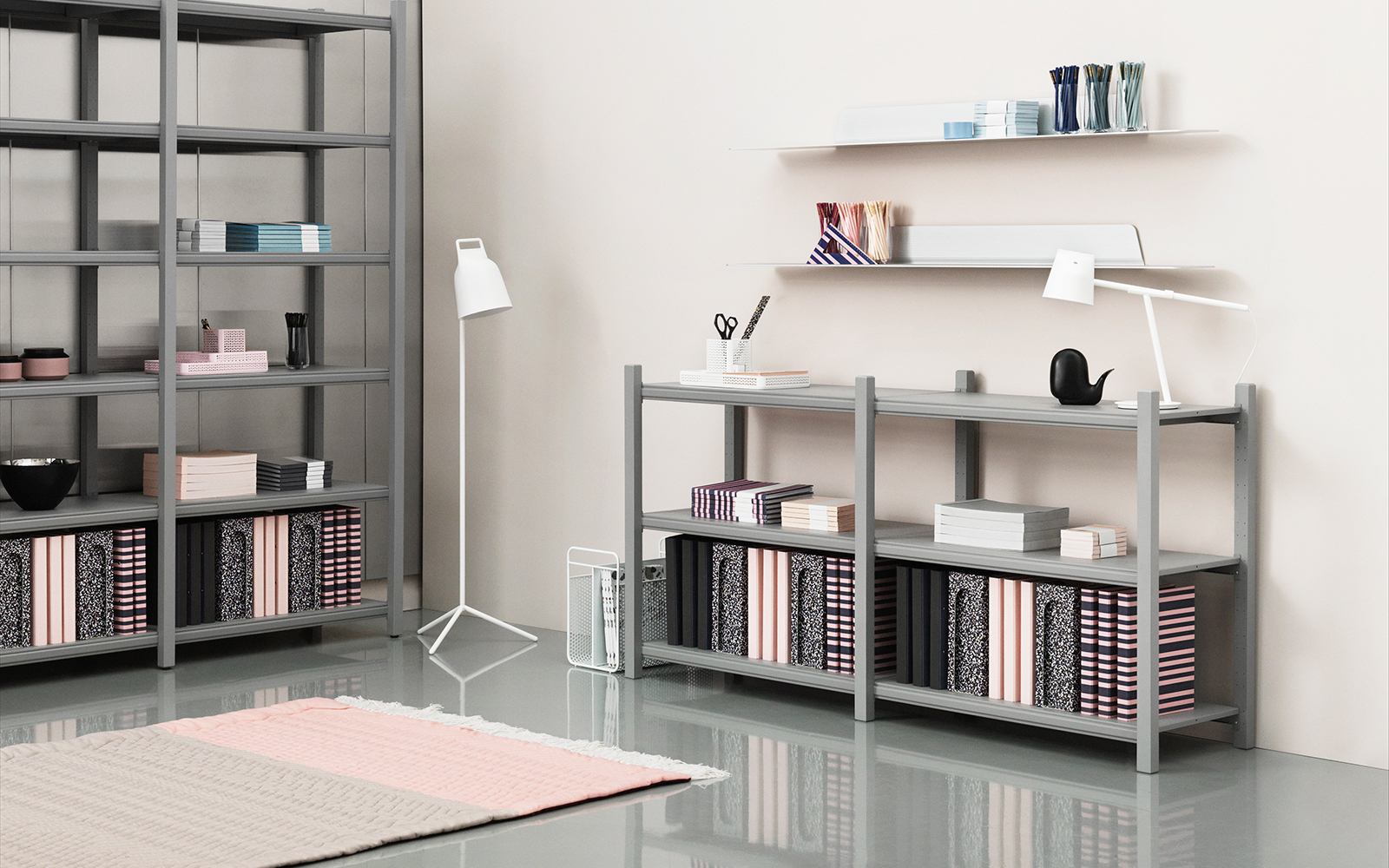 Wall Shelf Design Jet Shelf 160 Cm Black