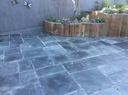 Showy Newly Laid Riven Slate Patio Wollaston Before Cleaning Grout Haze Tile Cleaners Tile Cleaning Grout Haze Remover Ace Hardware Grout Haze Remover Home Depot