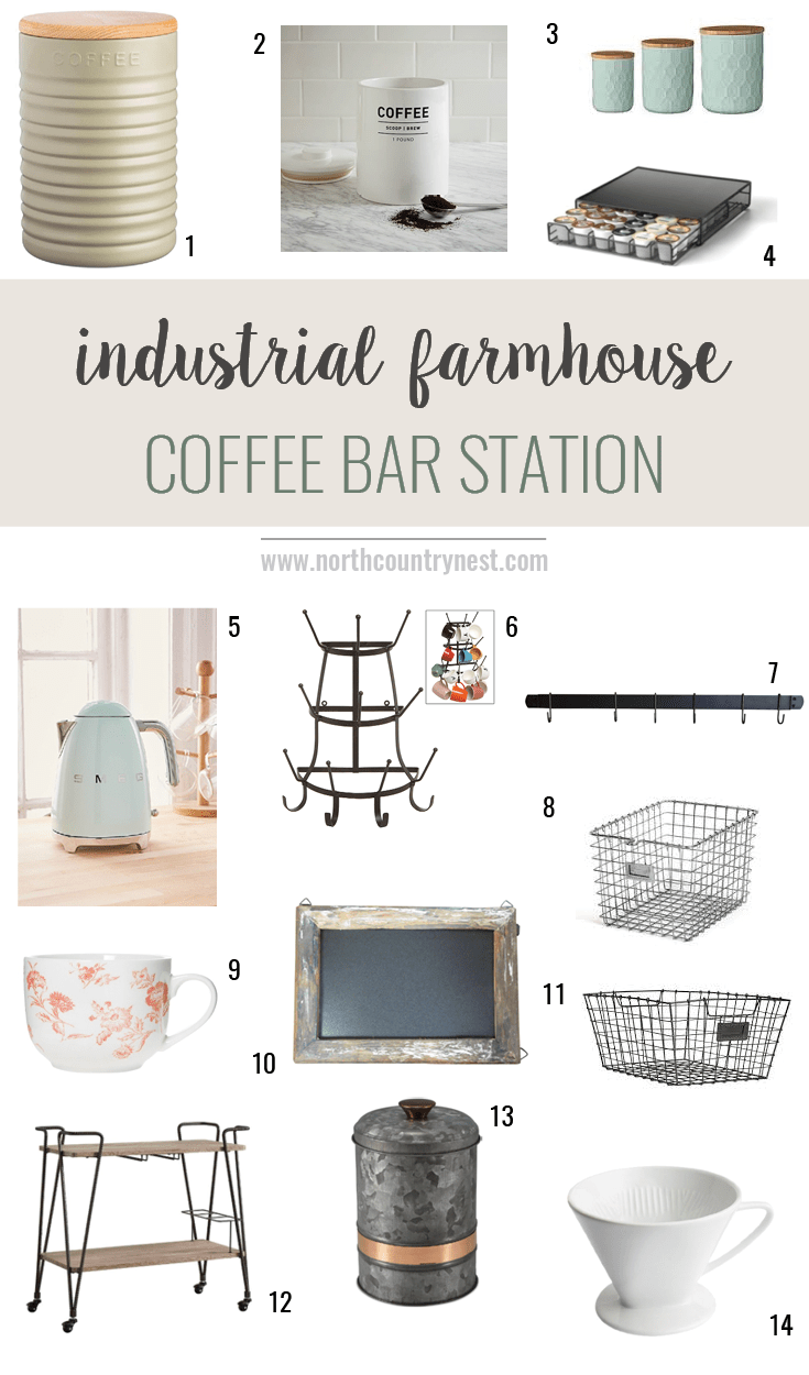 Farmhouse Coffee Shop Home Decor Ideas Industrial Farmhouse Coffee Bar North Country Nest