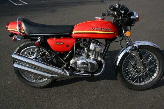 1973 Kawasaki S2 350 R Side