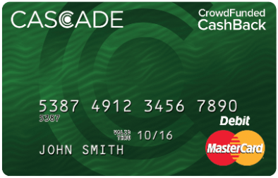 cascade crowd-funded pre-paid credit card
