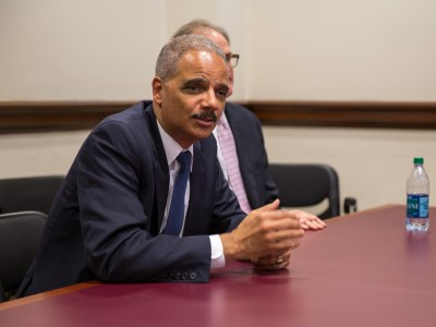 U.S. Attorney General Eric Holder meets with Police Officials and Program Participants on Diversion Initiative