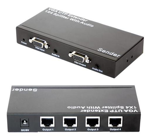 Utp Splitter Karwei Sell Vga Utp Extender 1x4 Splitter With Audio , Supply Vga