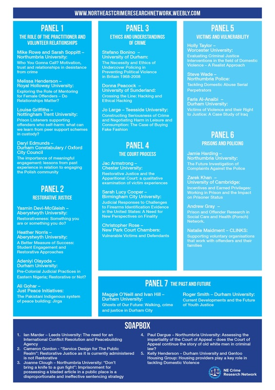 2014 Conference Programme - North East Crime Research Network
