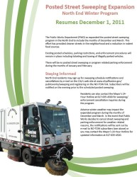 Street Cleaning Flyer - Resumes December 1, 2011