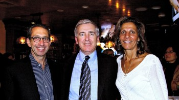 Martin J. Abrahamson, M.D., Sr. VP, Medical Director (left), John L. Brooks, III, Joslin President/CEO and Carla Agrippino Gomes