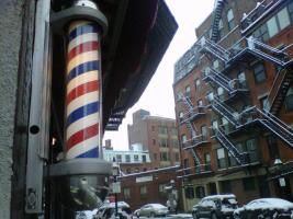 Firicano's Barber on North St - Photo by Kevin Krueger - Jan 2013