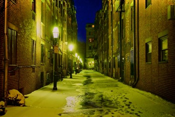 Public Alley 101 Icy Winter Night (Photo by Matt Conti) - Dec 2012