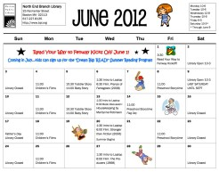 July 2012 Library Calendar