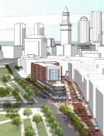 &quot;Market Square&quot; Artist Rendering - Upton + Partners with CBT Architects