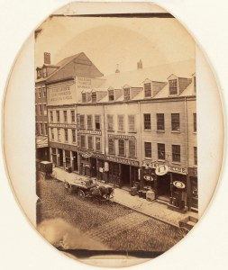 Blackstone Street 1855 Gift of Sinclair Holdings (Courtesy of Boston Public Library)