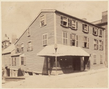 Prince St. Building Built in 1770. Used by the British during the Revolution as a hospital - 1892 (Courtesy of Boston Public Library)
