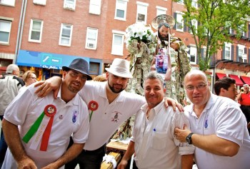The boys at the St. Rocco Procession - 2012 - Photo by Matt Conti