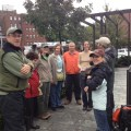 Friends of the North End Parks with Conservancy Staff at the Greenway Cleanup. (Photo by Diane Valle)