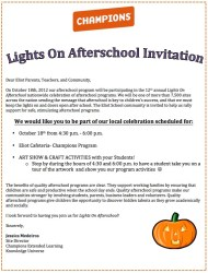 Lights on Afterschool Invitation
