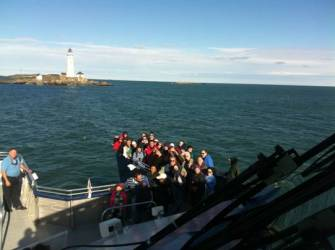 Photo at Boston Light during last weeks North Shore Lighthouse tour
