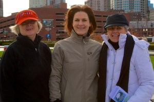 Mary, Diane and Dorothy on the North End Greenway (Photo by Matt Conti)