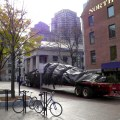 Christmas Tree Arrives at Faneuil Hall - November 2012 - Photo by Bruce McCue