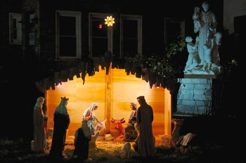 Nativity Scene at Saint Leonard's Peace Garden