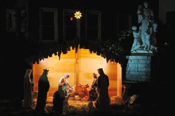 Nativity Scene at Saint Leonard Church built by Michael Bonetti - December 2012 - Photo by Matt Conti