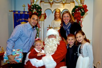 The Bono Family with Santa Claus