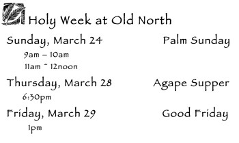 Holy Week at Old North 2013