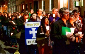 Pray for Boston - Eucharistic Congress Candlelight Vigil in North End