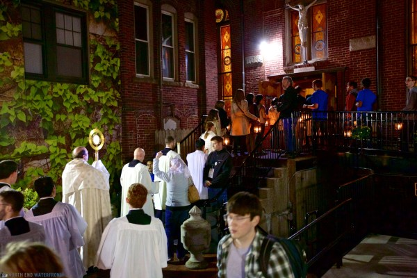 Eucharistic Congress Candlelight Vigil in North End