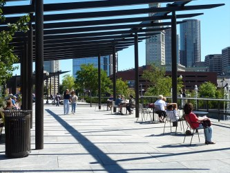 North End Parks Pergola - currently without shade