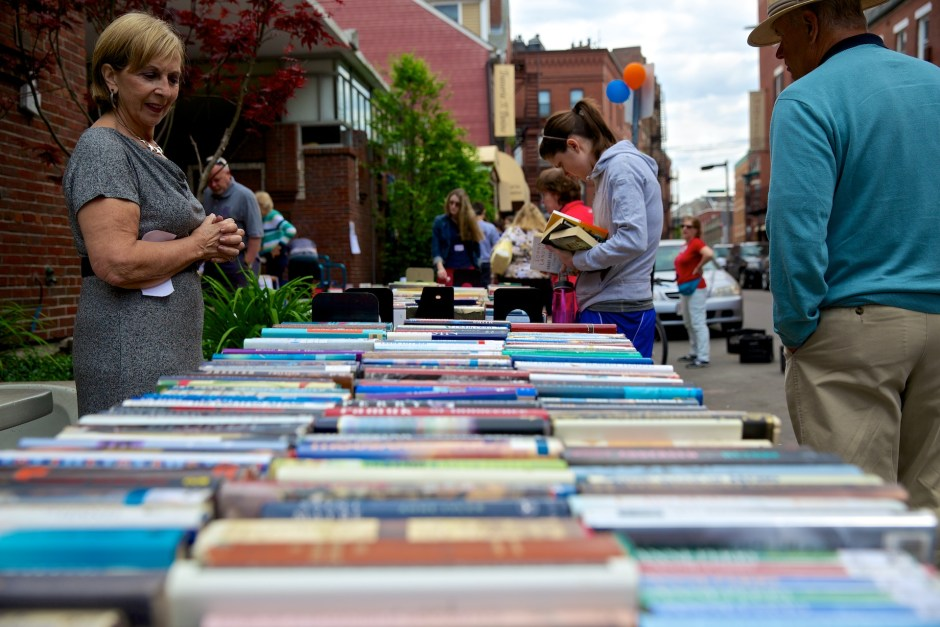 Books lining Parmenter Street