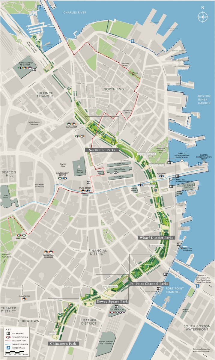 Greenway Map by Neighborhood