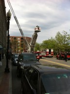 Tuesday afternoon false alarm at Merantile Wharf - May 2013 - Photo by Bruce McCue