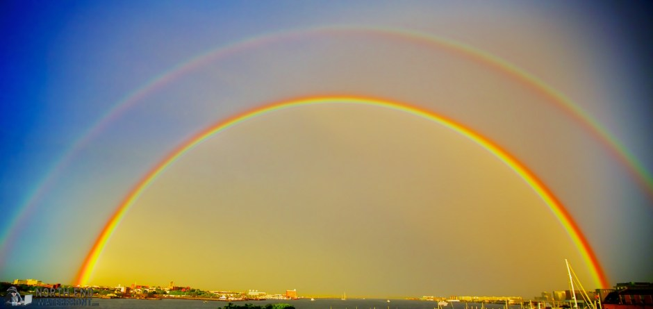 Double Full Rainbows Over Boston Harbor - June 2013 - Photo by Matt Conti
