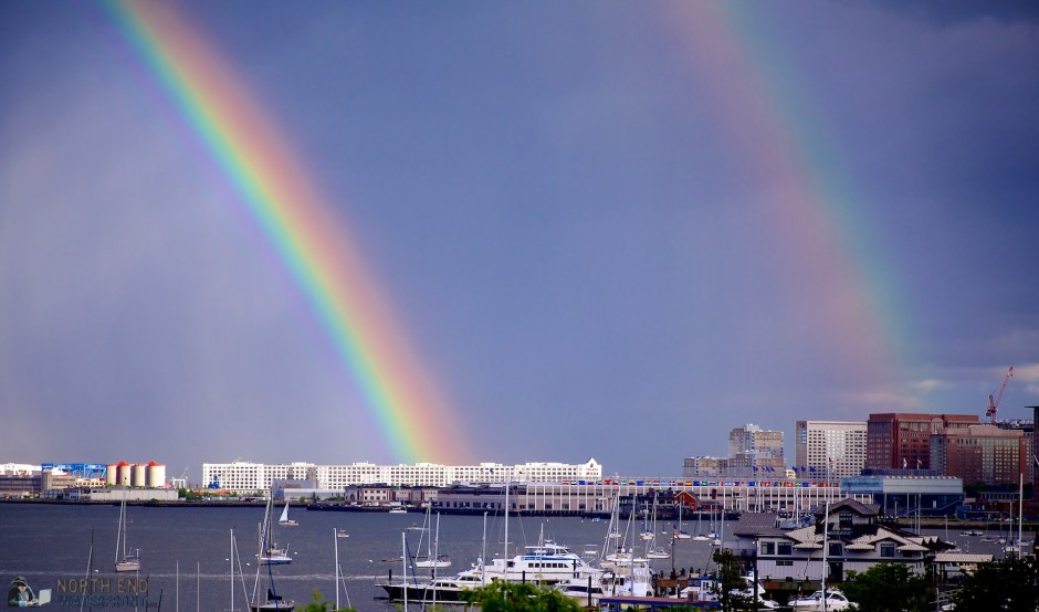 Double Rainbow Over Harbor and Seaport - June 2013 - Photo by Matt Conti