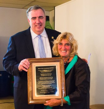 Boston Police Commissioner Ed David and NECC President Donna Freni