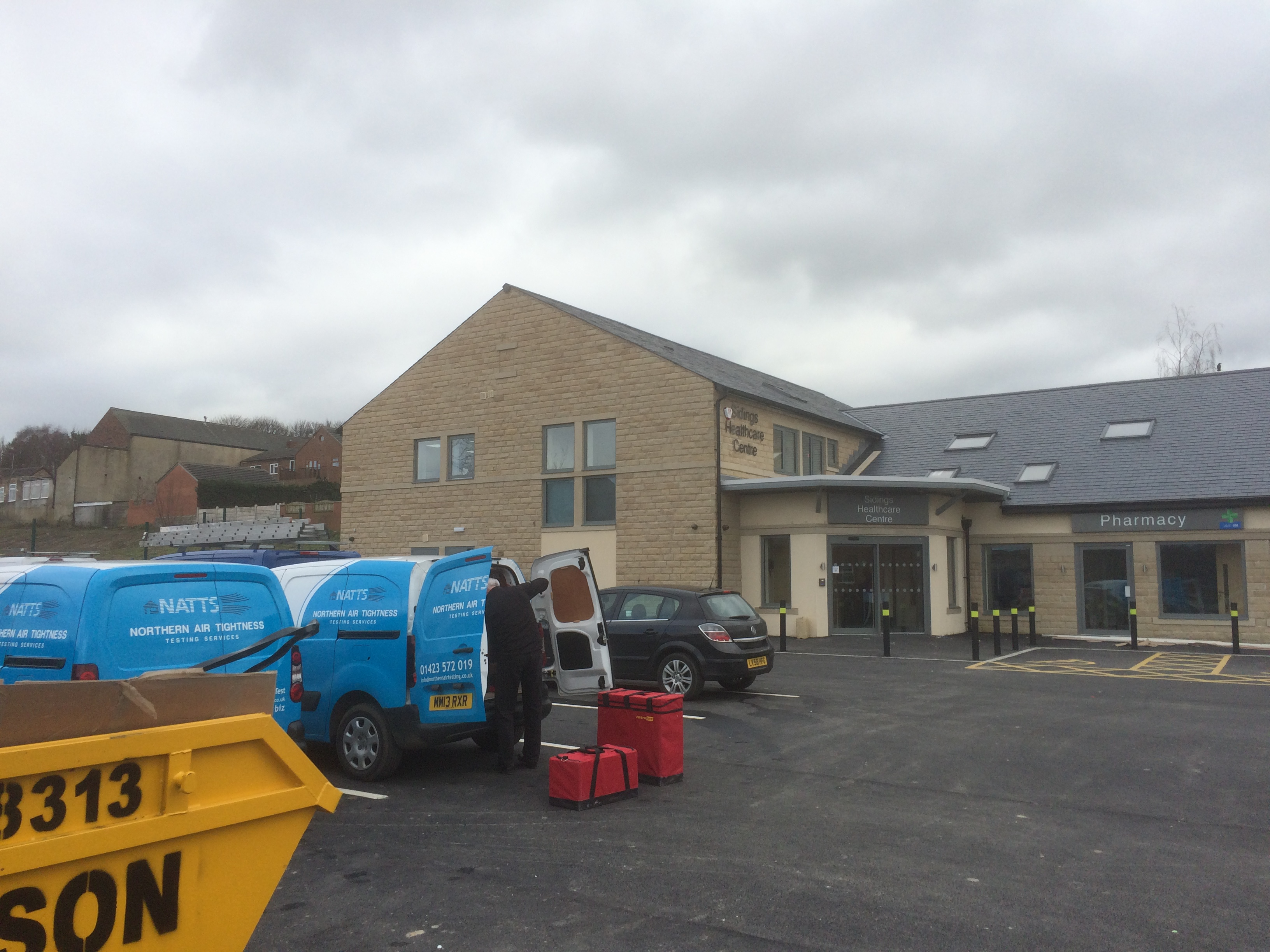 Centre Commercial Buld Air Commercial Air Tightness Testing Yorkshire Northern Air