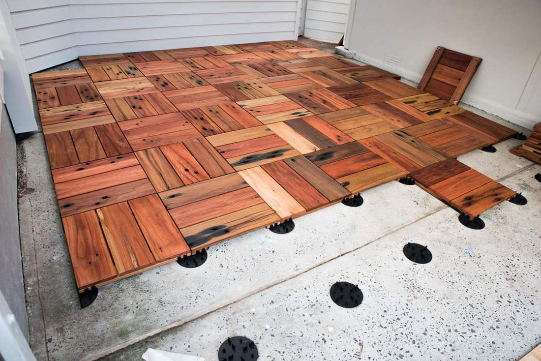 Outdoor Timber Tiles Decking Tiles Wood Deck Tiles Northern Rivers Recycled Timber