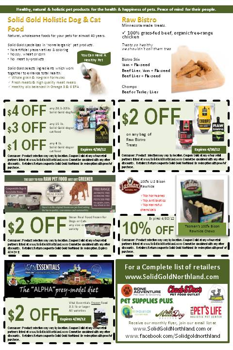 April Coupon Flyer Northland Natural Pet - coupon flyer