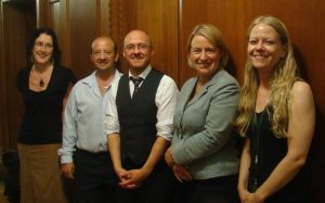Patrick Harvie with fellow Greens after the meeting
