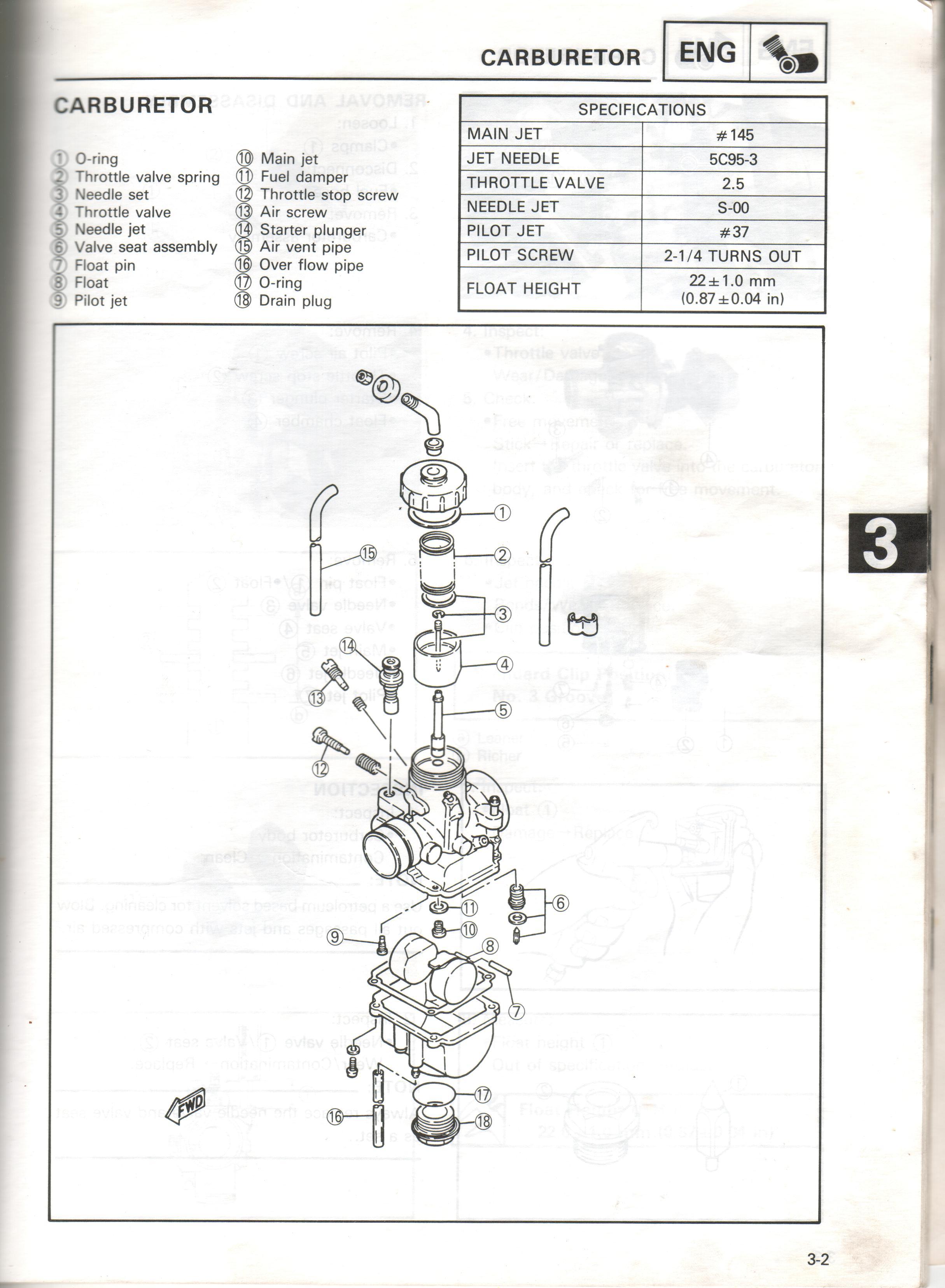yamaha moto 4 350 also diagram of yamaha moto 4 225 carburetor besides