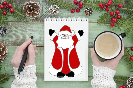 Santa Template - 26 Whimsical Free Santa Outlines, Printable