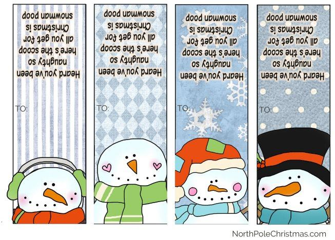 Snowman Poop - Poem, Printable Bag Toppers, Tic Tacs, Images