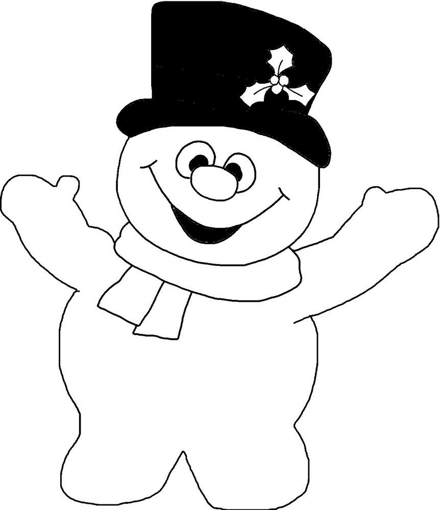 Frosty The Snowman Coloring Page Outline Line Art Enjoy