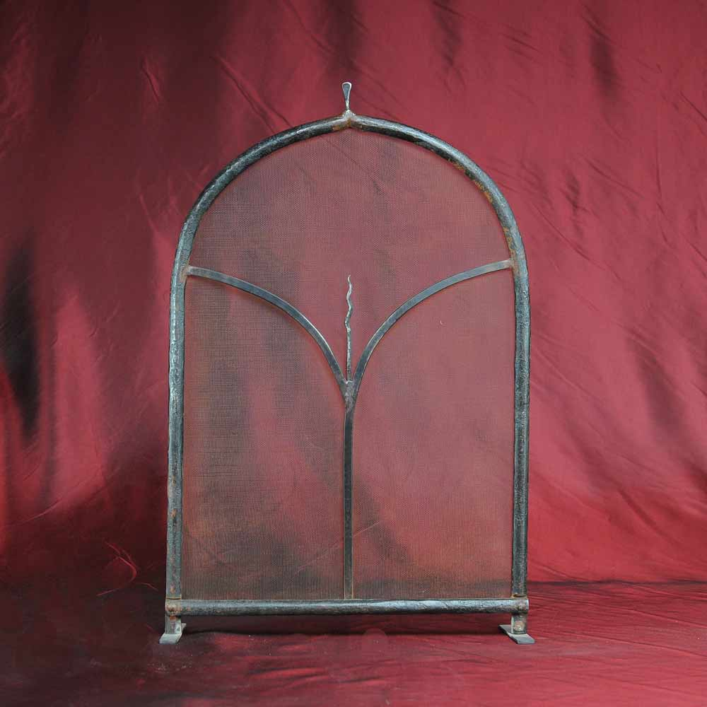 Small Fireplace Screens Under 30 Wide Laser Cut Steel Single Panel Screen Northshore Fireplace